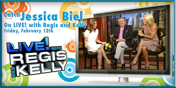 Jessica will be on Live! with Regis and Kelly on February 12