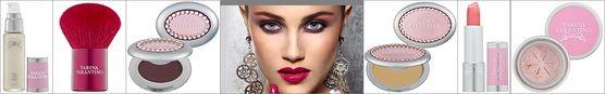 Tarina Tarantino Cosmetics: pear Glow Primer, Kapinki brush, Eye Dream Hypershadow, Dollskin Powder, Conditioning Lip Sheen, Sparklicity Pure