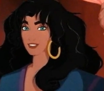 Esmeralda from The Hunchback of Notre Dame (1996) was a gorgeous gypsy who fought for racial justice and saw past Quasimodo's fearsome exterior.