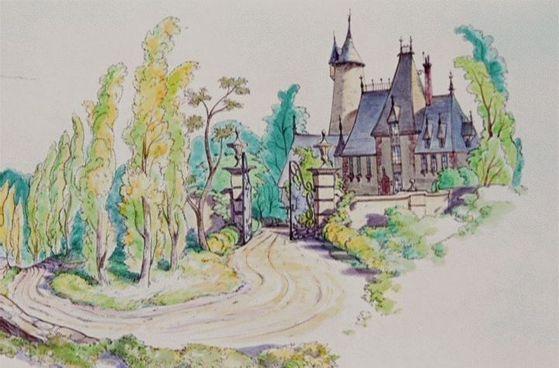 (Cinderella's home)
