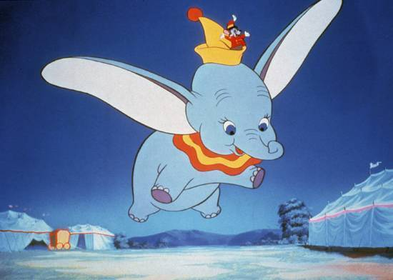 23. Dumbo- A true classic that follows a very cute 象 all alone in the world.