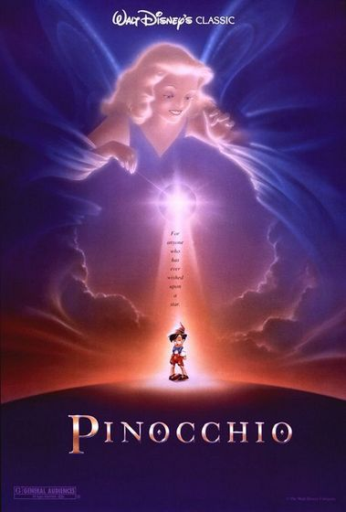 22. Pinocchio- Many people don't like Pinocchio but I think it is a great film with action and sadness.
