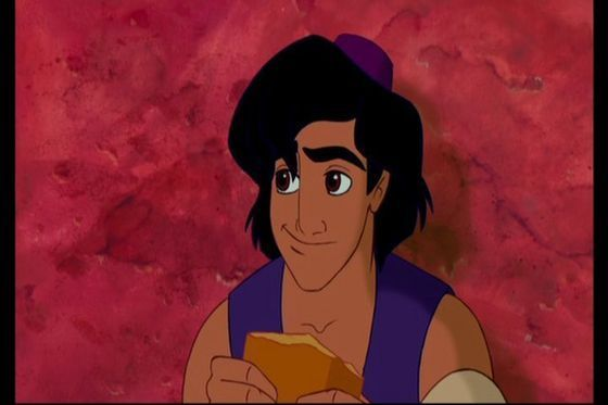2.Aladdin he's handsome smart kind sneaky he's the first prince not to be born into royalty and to not be wearing a overhemd, shirt