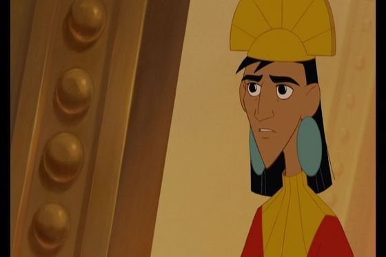 11.Kuzco for someone who thinks he meer hot than he is he's handsome I guss he learns it's what's inside that counts and in the series he gets a girlfriend named Malina (his nickname for her is hottie hot hottie)