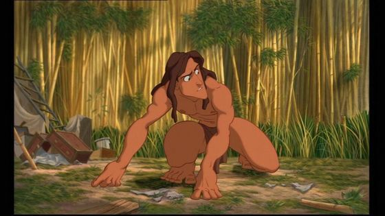 10.Tarzan he's a girl's dream a muscial guy swinging threw the vines kind to জন্তু জানোয়ার and he wears a loin cloth even though I don't care for that girls do