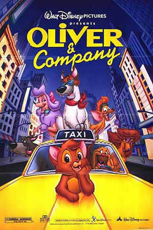 10.Oliver and Company- A very good musical with a twist on a good story. Also has funny characters.