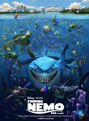 6. Finding Nemo-The last ピクサー・アニメーション・スタジオ film on this list, it is funny and has lots of adventure.