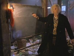 Doc Brown prepares to explain a timeline tangent in Back to the Future Part II