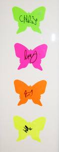 Coldplay's schmetterling artwork