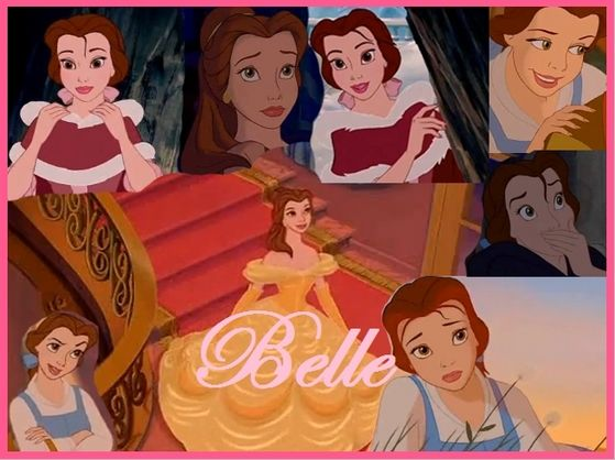 Although Belle is beautiful, the makers of the film made her unaware of it. She spends her days reading and dreaming of adventure.