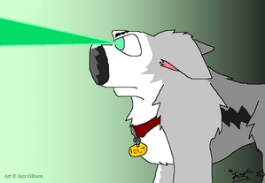 """""""...streaming beams of electric green light from his eyes."""""""