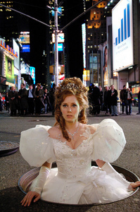 The wedding dress: This was worn when she was transformed into a real life person. I loved the design but the dress itself was too bulky.
