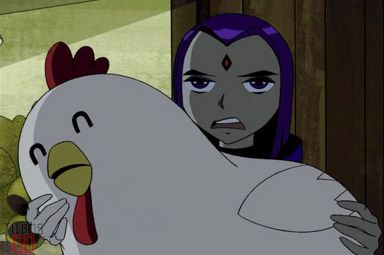 """A giant chicken. I must be the luckiest girl in the world."""