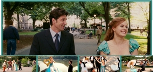"""Banner 1: That's how آپ know. Giselle and Robert walking in the park with some other شبیہیں included. I personally like this one because its colourful and I love the song """"That's how آپ know""""."""