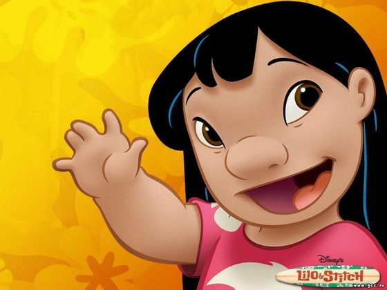 9.Lilo(Lilo and Stick) she's pretty I think she's prettier than her sister she reminds me of jimmy, hunitumia for that nose and Pocahontaas for the hair