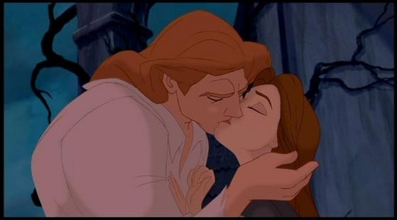 She fell in Liebe with the Beast, who turned out to be a very handsome Prince!