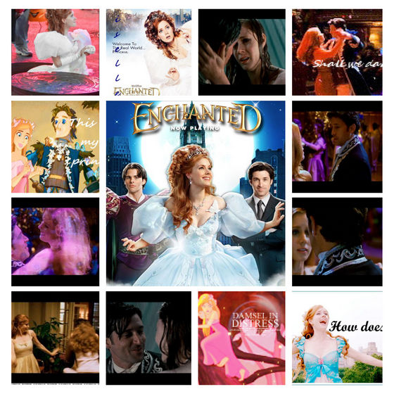This one is just a little 照片 album about Enchanted.From 2D 动画片 to live action.