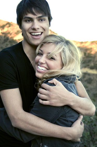 "Kiowa Gordon and Dalal Bruchmann. Promotional photo shoot for ""Into The Darkness"" at Griffith Park."