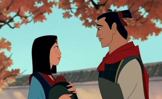 Mulan is in love with Shang.