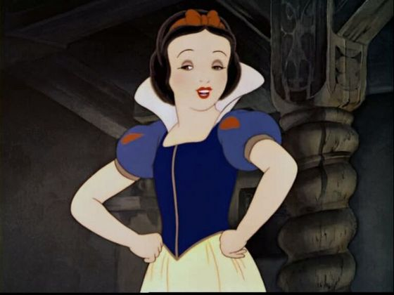 9.Snow White her eyes are cute though most of the time their closed her eyes would be better if the animación was better