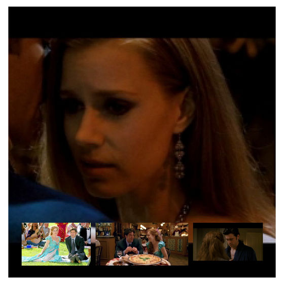 This one is aboutGiselle thinking about her few days with Robert. The bottom afbeeldingen are Giselle with Robert in the that's how u know scene,at the restaurant and finally the arguing scene where Giselle begins to fall for Robert.