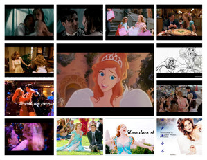 This is a little storyboard all about Giselle's life from cartoon to real life.A few from That's how u know, ballroom scene and finally the finale of the movie.