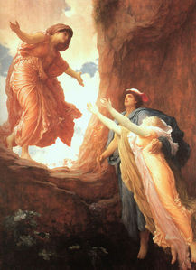 The Return of Persephone によって Frederic Leighton (1891)