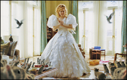 The Happy Working Song has to be the most hilarious part in the movie because Giselle summons her animal फ्रेंड्स to help her tidy Robert's apartment. It a spoof of Snow White's whistle while आप work.