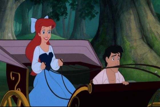 A hilarious moment where Ariel got to ride the carriage and nearly killing Eric LOL