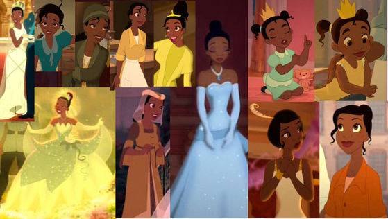 """meh. other than her final ballgown at her transformation, and her wedding dress, i'm not a huge Фан of Tiana's outfits."" -percyandpotter"