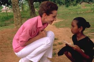 Audrey on a UNICEF Mission