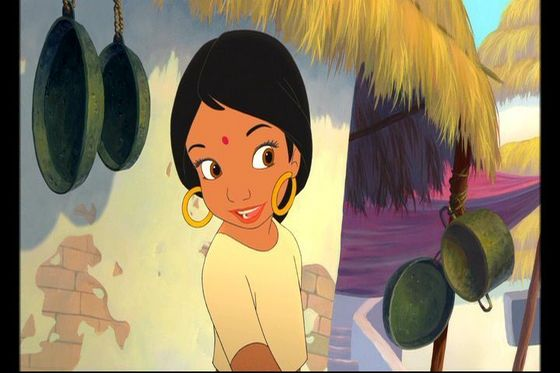 8.Shanti she used her girlish charms to get Mowgli to come to the village and she's the only girl in the whole movie she is beautiful