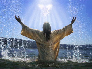 Yesus in the Jordan River