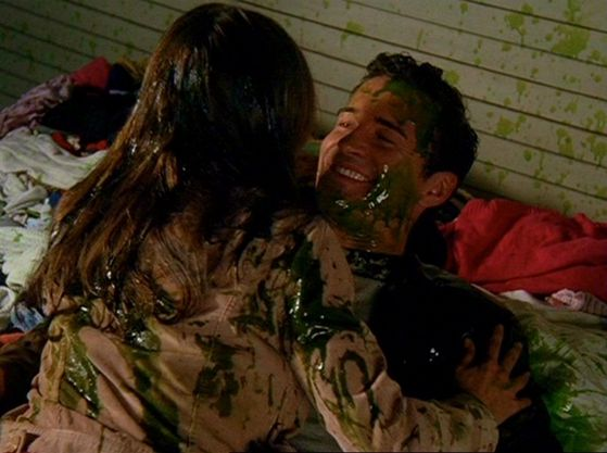 Cole when he proposes in a pile of goo, and then Phoebes reaction, that whole scene, hilarious!