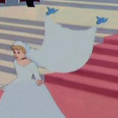 Aw, birdies helped her with veil