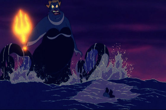 Ursula in the sea is the equivalent of an American tourist in France.