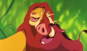 The hilarious duo make up #5 on my list. I l'amour how they managed to take in the orphaned Simba. After being run out of his kingdom, seeing his father's death, and almost dying in the middle of the desert- the two taught him just how awesome life is! Throw