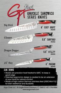 Guy Fieri Knuckle sandwich, panino Knives