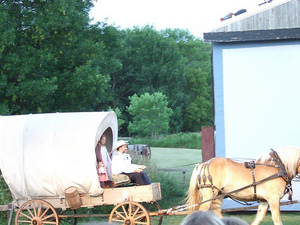 The Ingalls entering the stage