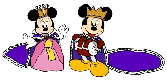 Prince Mickey and Princess Minnie
