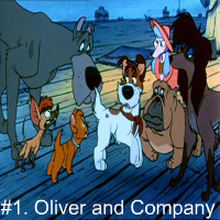 This is my abolute お気に入り movie EVER! Oliver and company is kind of like a spoof of Oliver twist. Dodger is THE dog. Georgette and Tito are adorable! Not to mention it was made in the 80's! But it's also a ハート, 心 warming movie!