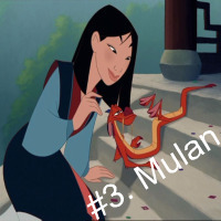 She's possibly the strongest Disney girl in existence. Mulan can kick tail, and she knows it! Her movie is amazing, full of comedy and lots of action! I fell people can relate to Mulan because, unlike most Disney Princess, she's tomboyish and klutzy.