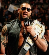 Batista with WWE titolo