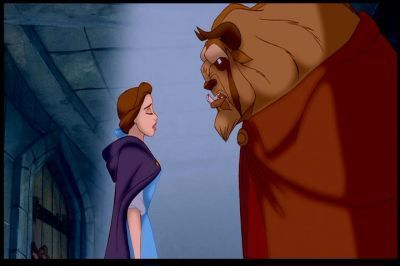 "Belle: ""Who's there, who are you?"" Beast: ""The master of this castle"""
