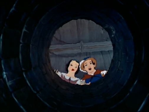 "Prince:""Hello, did I frightened you?"" Snow White:""Oh!"""