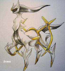 Arceus cuz it is the strongest pokemon in the world