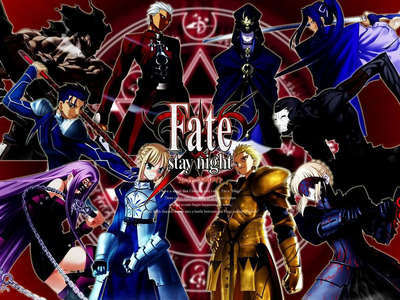 did someone watch Fate / Stay Night I do not understand the anime has eight servants and the on pictu