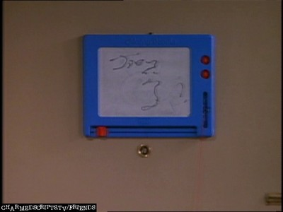 i could only find one that had the 'message' written on the board after chandler had gone  next: phoe