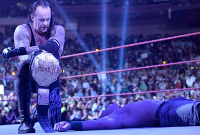 There are many strong wrestlers like Sheamus, HHH, Batista and so more, but I think that Undertaker i
