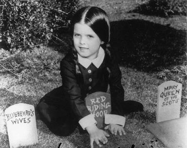 L-Lisa Loring played Weddnesday Addams